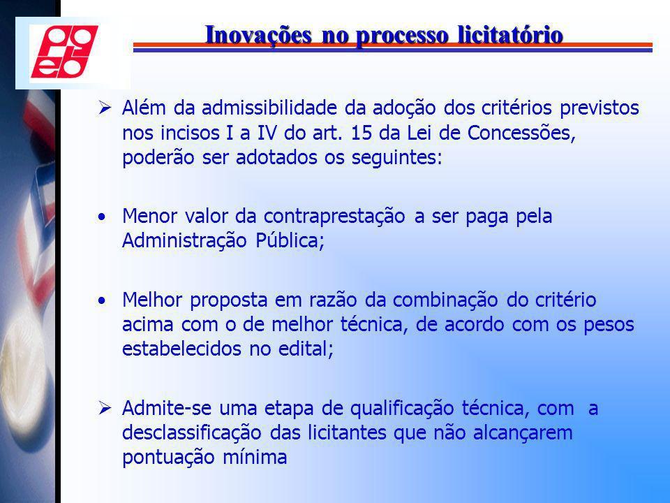 Inovações no processo licitatório