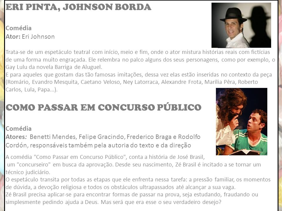 ERI PINTA, JOHNSON BORDA