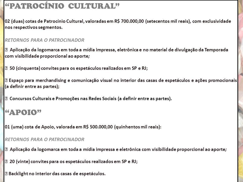 PATROCÍNIO CULTURAL