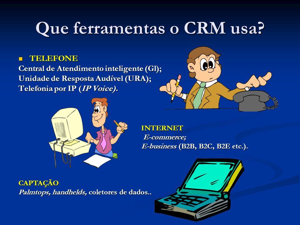 Que ferramentas o CRM usa