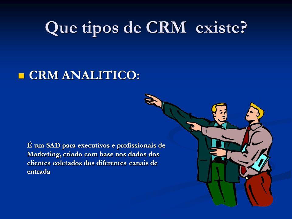 Que tipos de CRM existe CRM ANALITICO:
