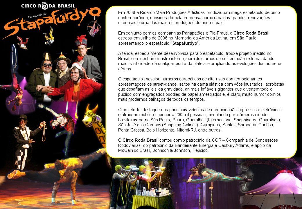 Em 2006 a Ricardo Maia Produções Artísticas produziu um mega-espetáculo de circo contemporâneo, considerado pela imprensa como uma das grandes renovações circenses e uma das maiores produções do ano no país.