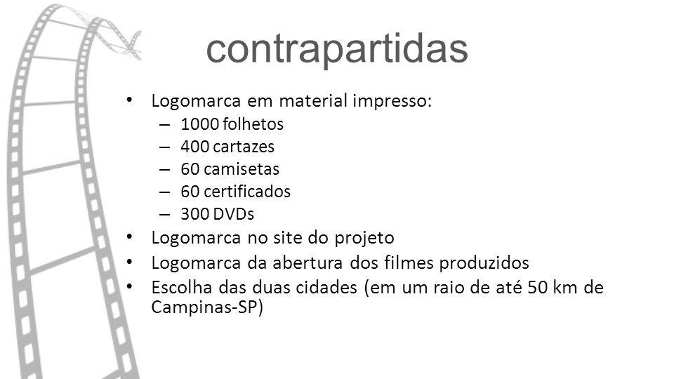 contrapartidas Logomarca em material impresso: