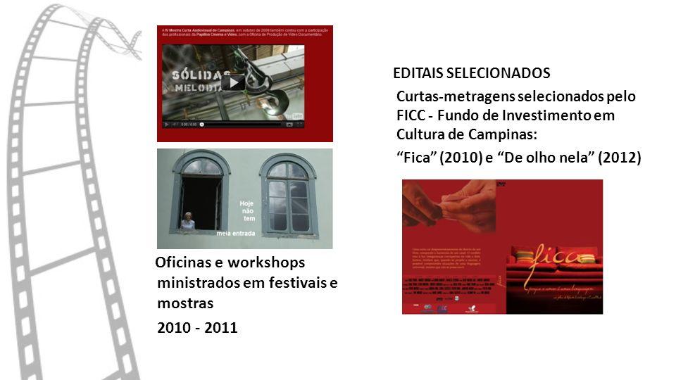 Oficinas e workshops ministrados em festivais e mostras