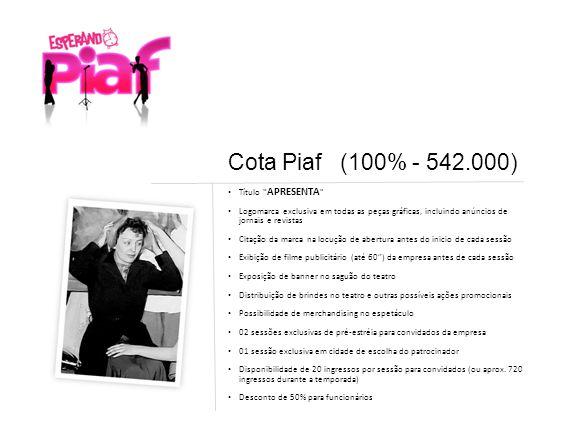 Cota Piaf (100% - 542.000) Título APRESENTA