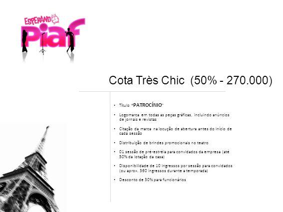 Cota Très Chic (50% - 270.000) Título PATROCÍNIO