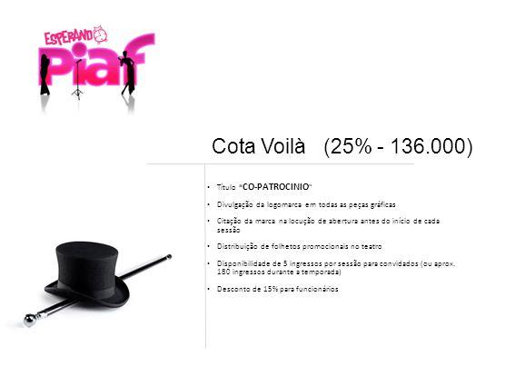 Cota Voilà (25% - 136.000) Título CO-PATROCINIO