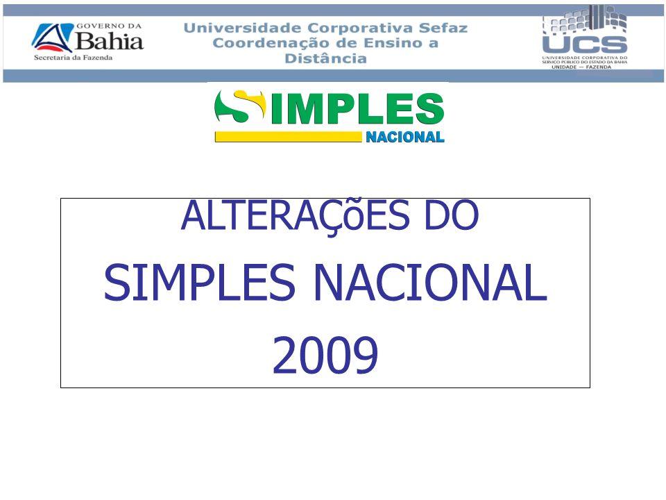 SIMPLES NACIONAL 2009 ALTERAÇõES DO 00:00:
