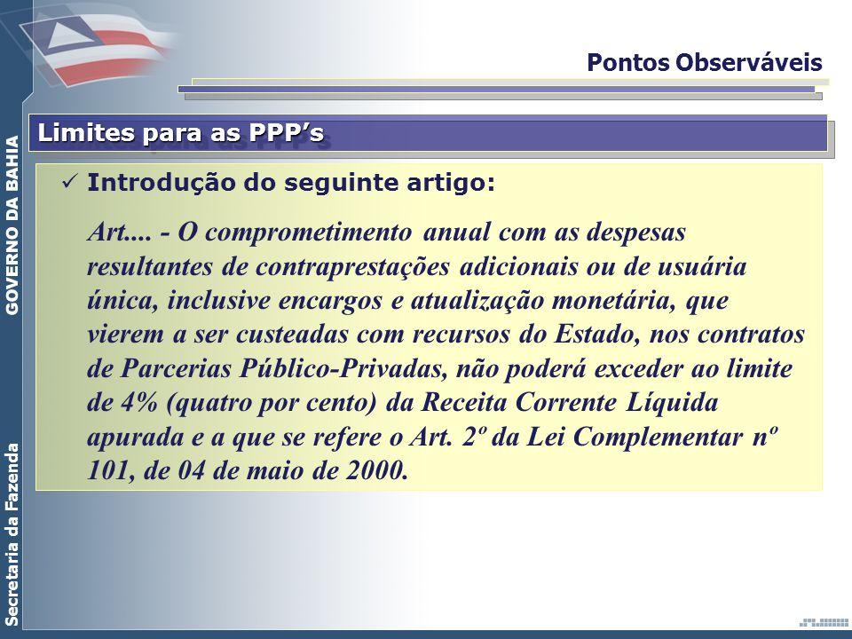 Pontos Observáveis Limites para as PPP's. Introdução do seguinte artigo: