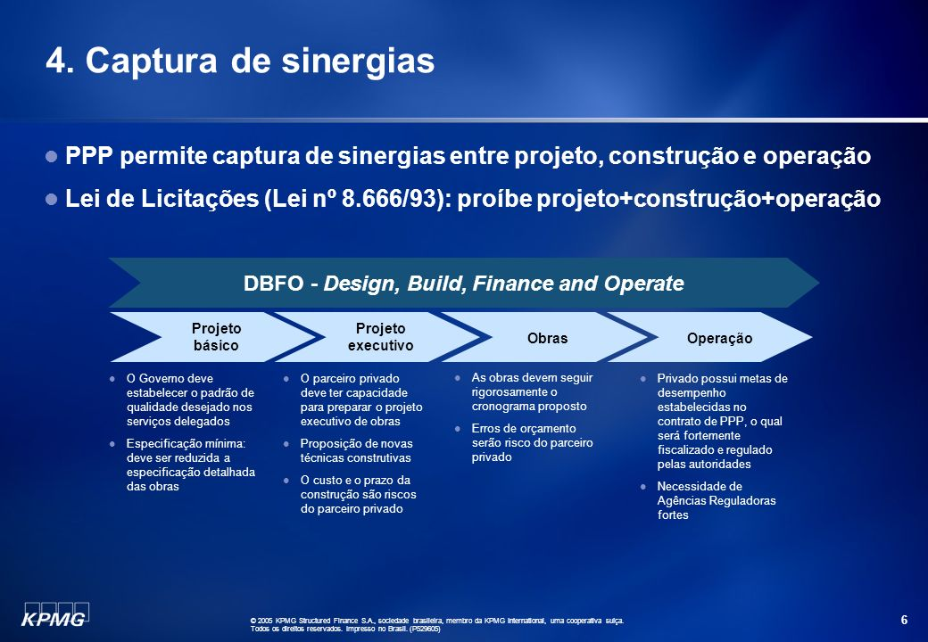 DBFO - Design, Build, Finance and Operate