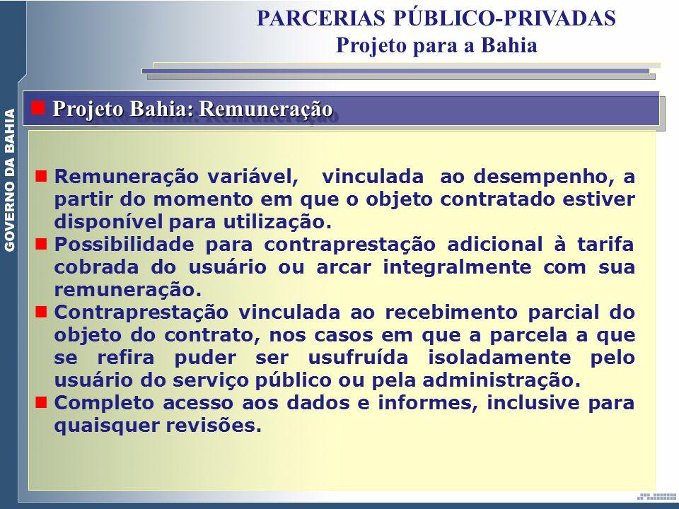 PARCERIAS PÚBLICO-PRIVADAS Projeto para a Bahia