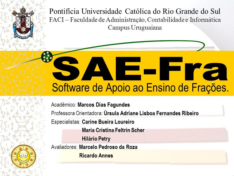 Software de Apoio ao Ensino de Frações.