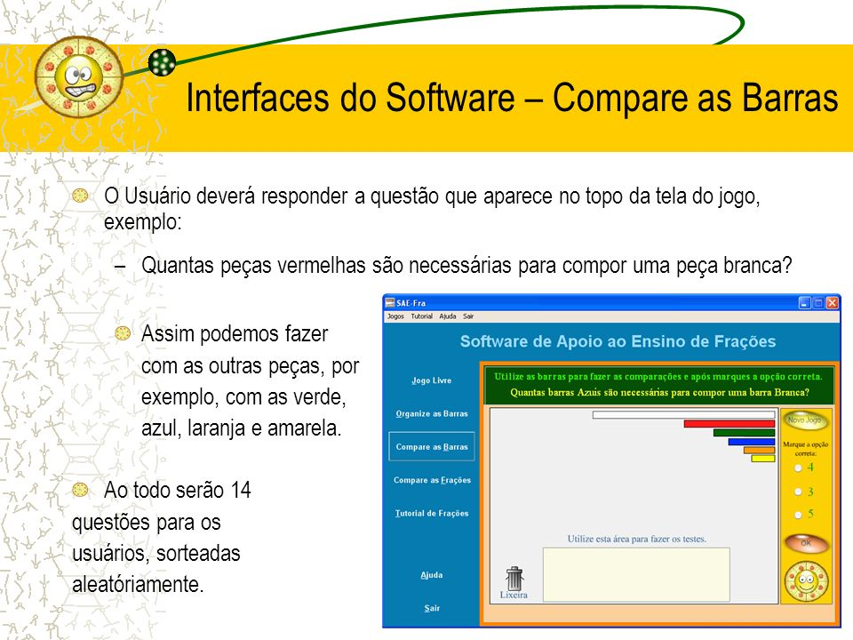 Interfaces do Software – Compare as Barras