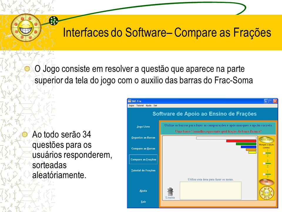 Interfaces do Software– Compare as Frações