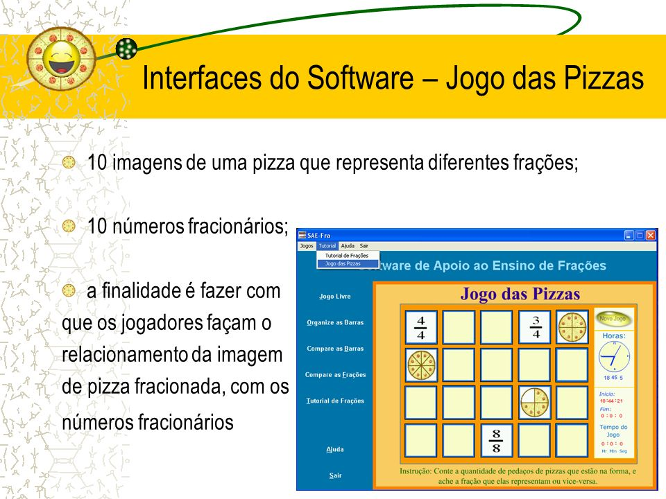 Interfaces do Software – Jogo das Pizzas