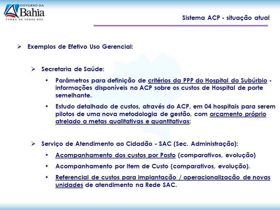 Sistema ACP - situação atual