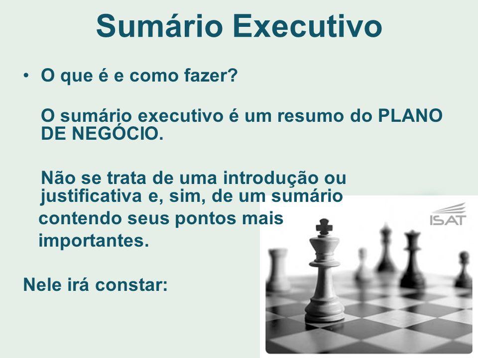 Sumário Executivo O que é e como fazer