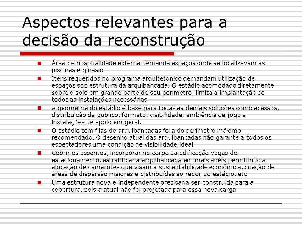 Aspectos relevantes para a decisão da reconstrução