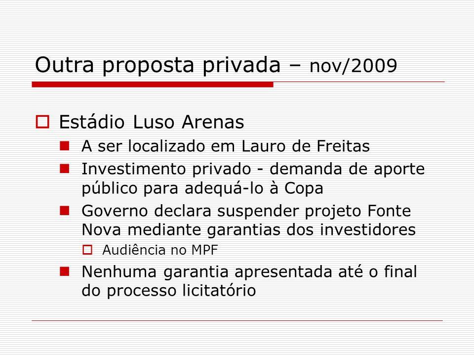 Outra proposta privada – nov/2009