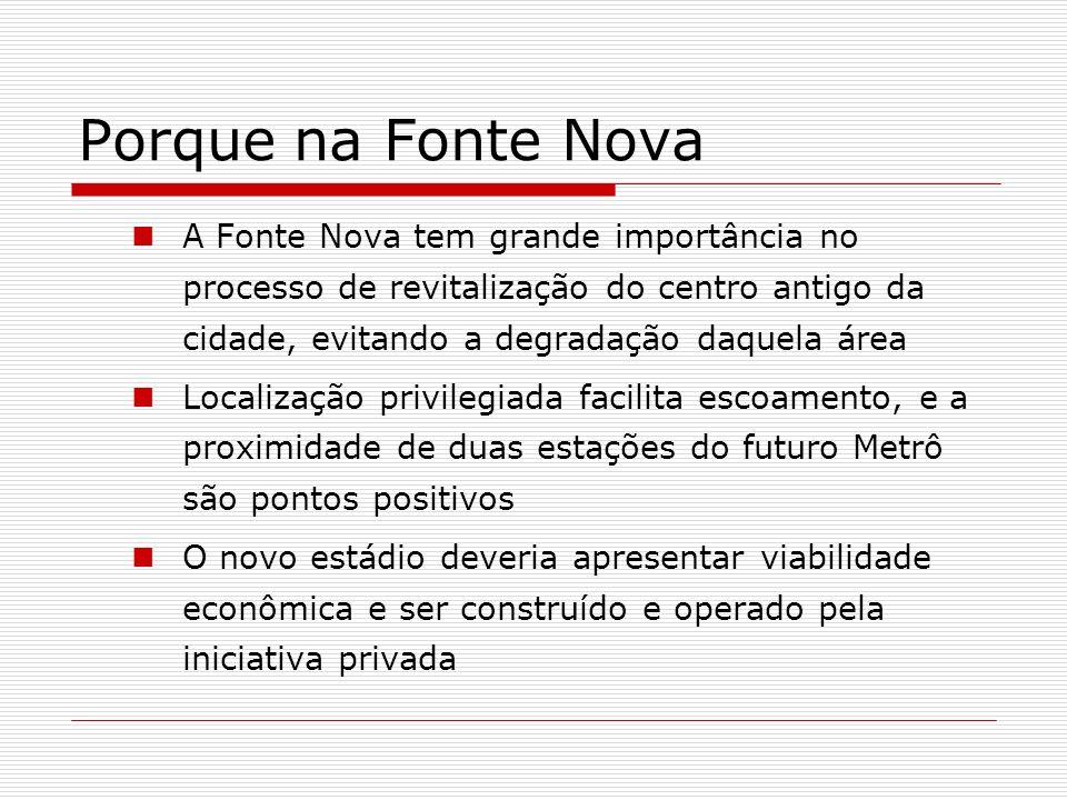 Porque na Fonte Nova A Fonte Nova tem grande importância no processo de revitalização do centro antigo da cidade, evitando a degradação daquela área.