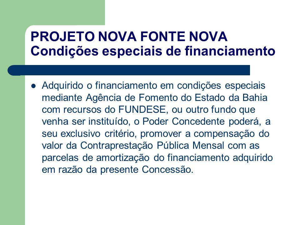 PROJETO NOVA FONTE NOVA Condições especiais de financiamento