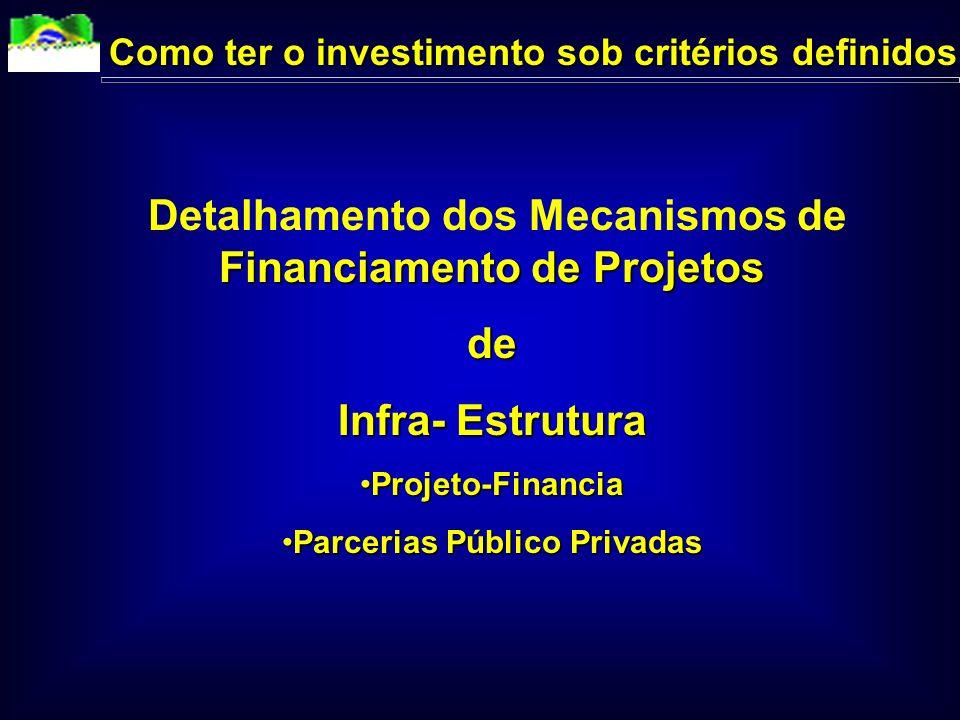 de Infra- Estrutura Como ter o investimento sob critérios definidos