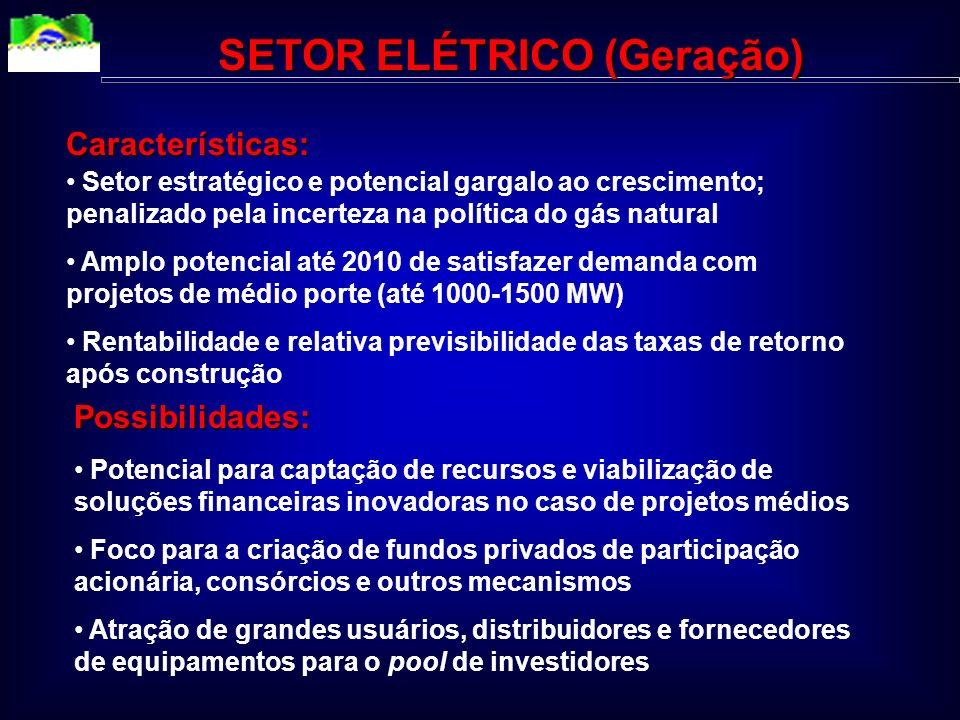 SETOR ELÉTRICO (Geração)