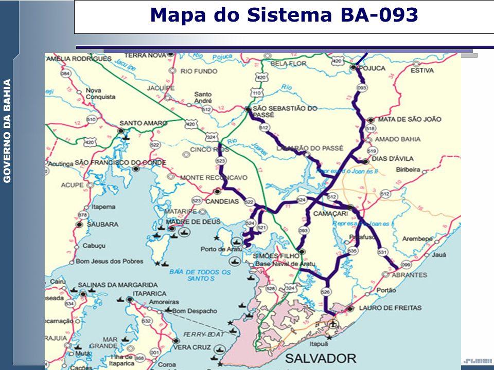 Mapa do Sistema BA-093 Uma importante via que liga a cidade de Salvador ao Pólo Petroquímico de.