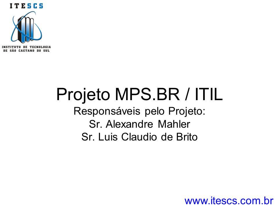 Projeto MPS. BR / ITIL Responsáveis pelo Projeto: Sr