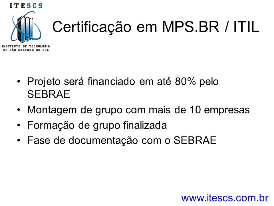 Certificação em MPS.BR / ITIL