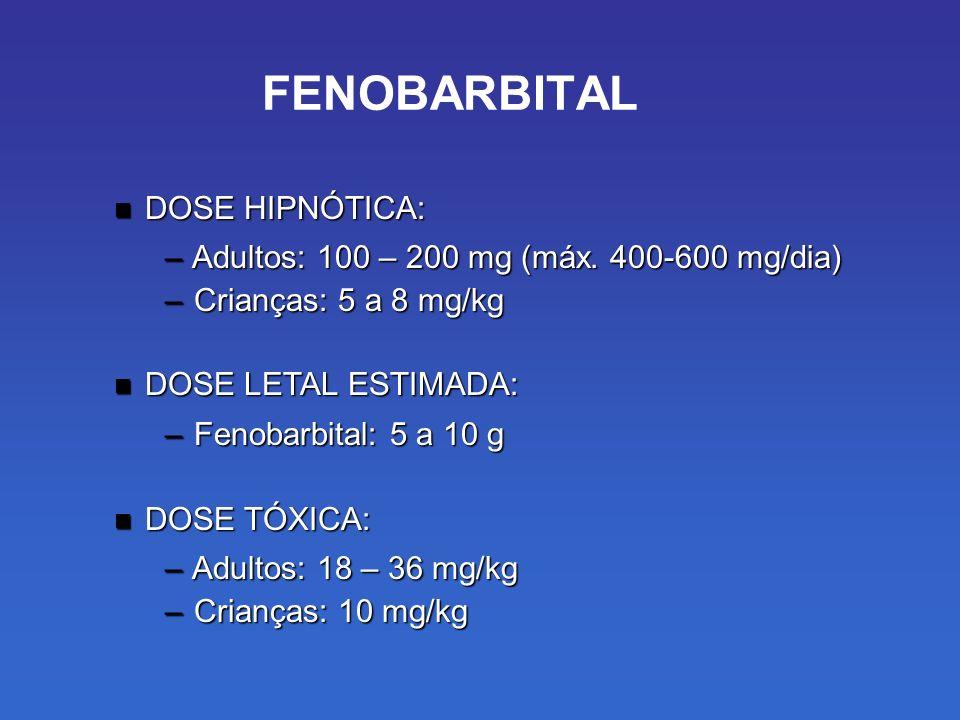 FENOBARBITAL DOSE HIPNÓTICA: