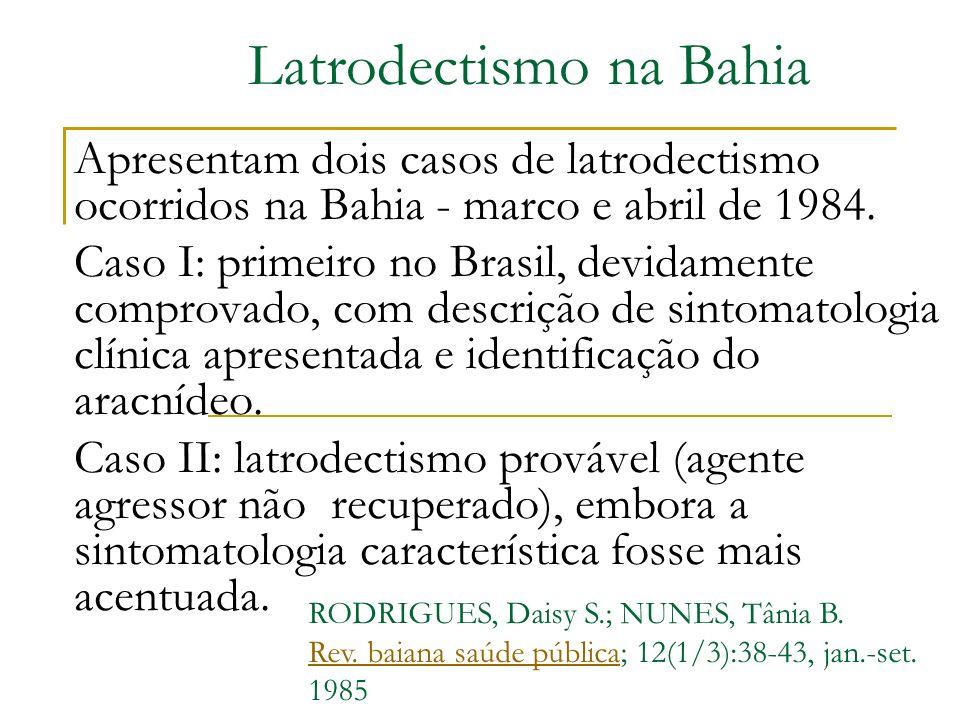 Latrodectismo na Bahia