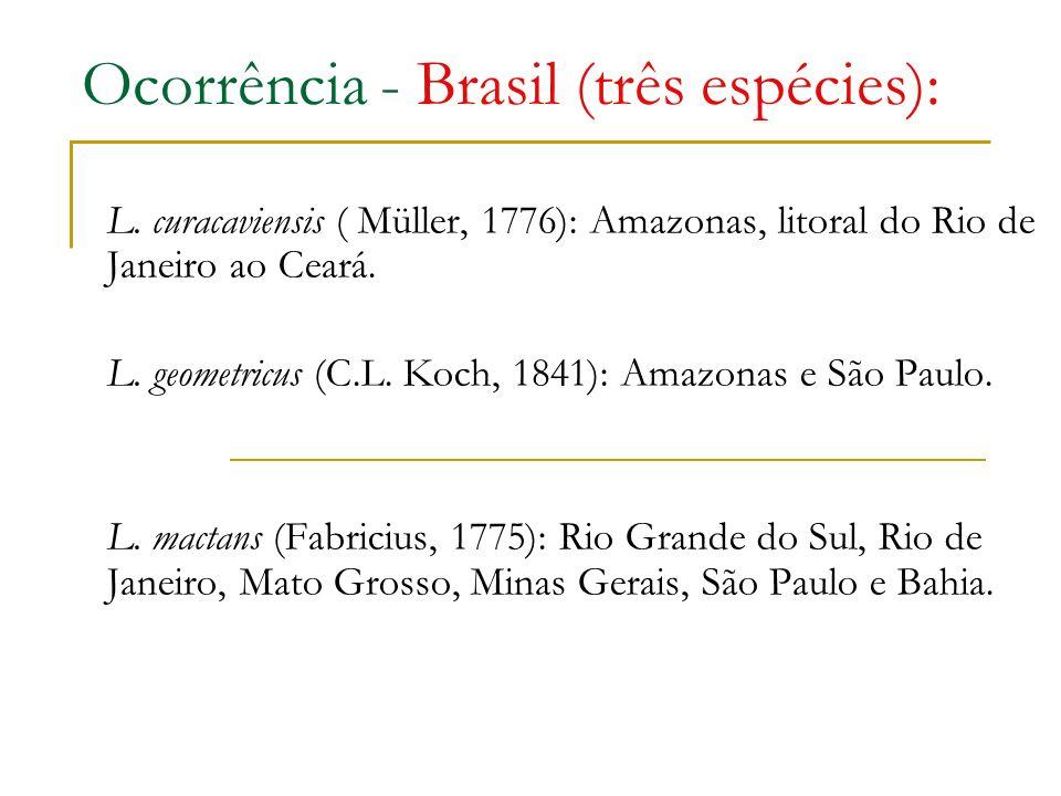 Ocorrência - Brasil (três espécies):