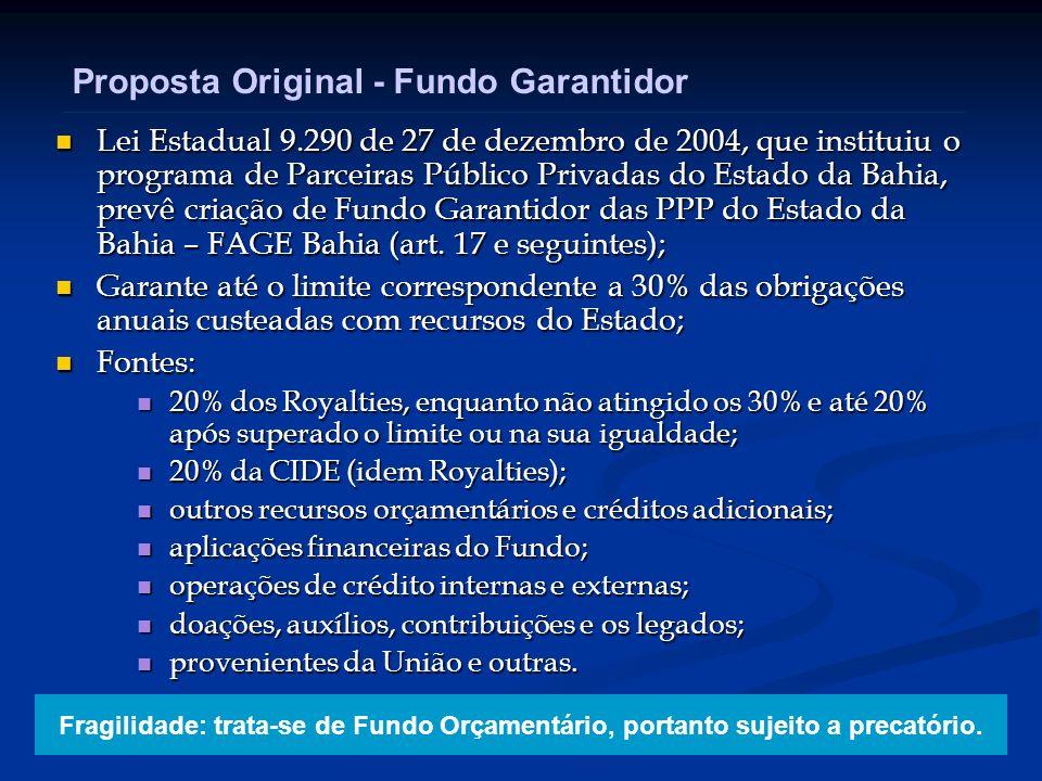 Proposta Original - Fundo Garantidor
