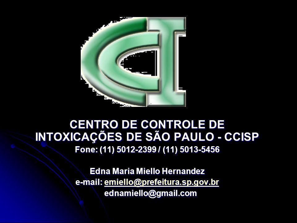 CENTRO DE CONTROLE DE INTOXICAÇÕES DE SÃO PAULO - CCISP