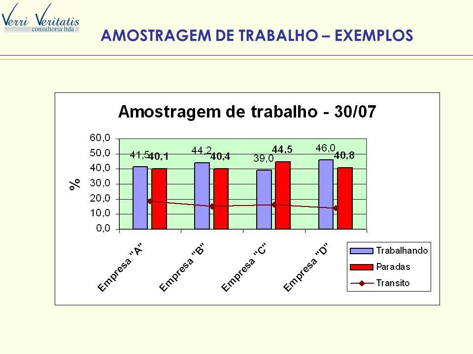 AMOSTRAGEM DE TRABALHO – EXEMPLOS