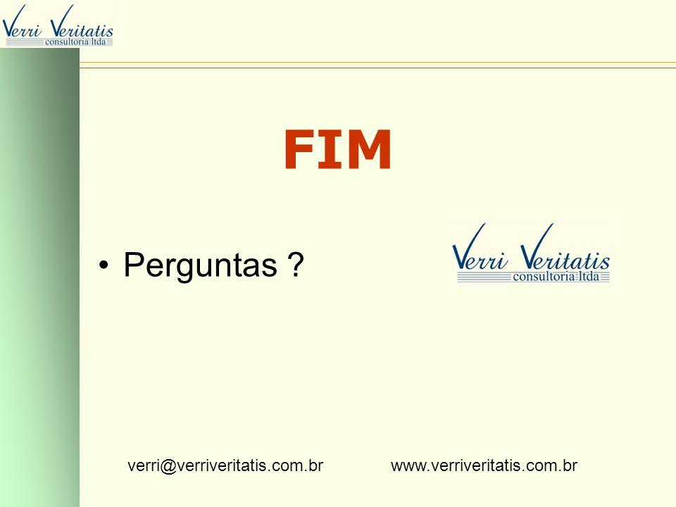 VERRI FIM Perguntas verri@verriveritatis.com.br www.verriveritatis.com.br