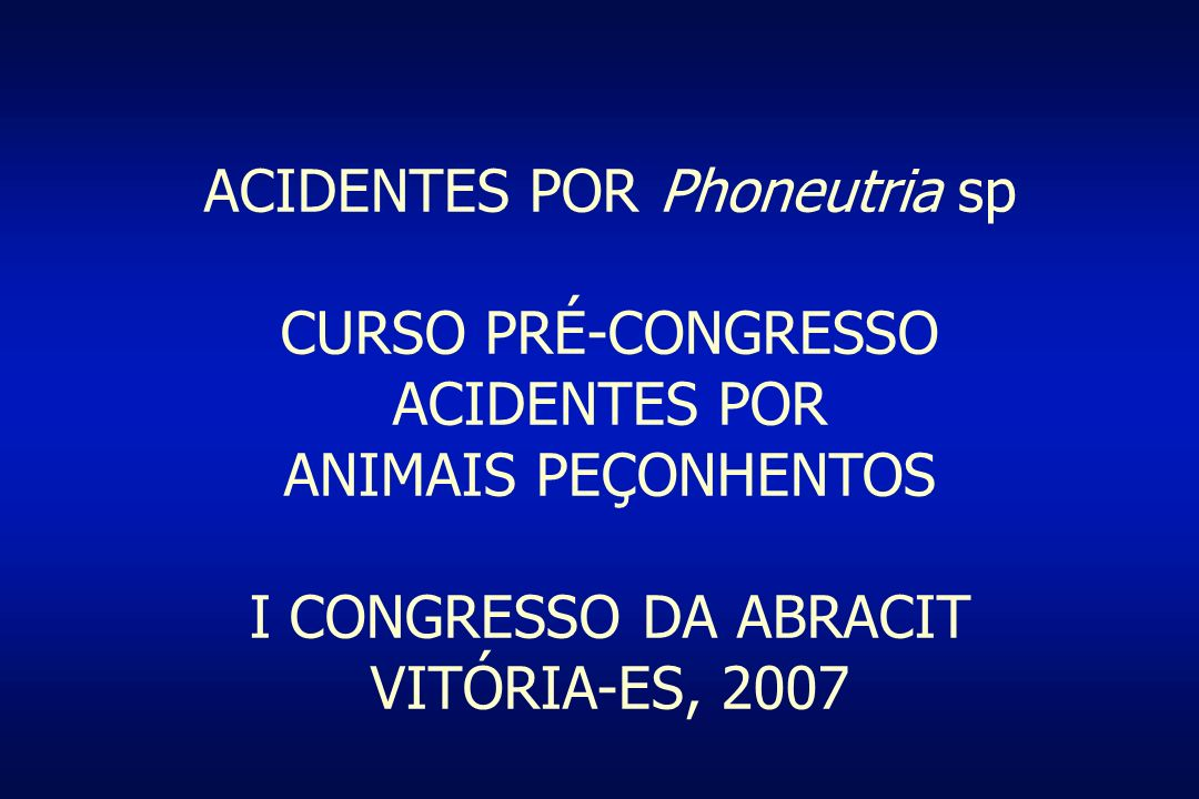 ACIDENTES POR Phoneutria sp