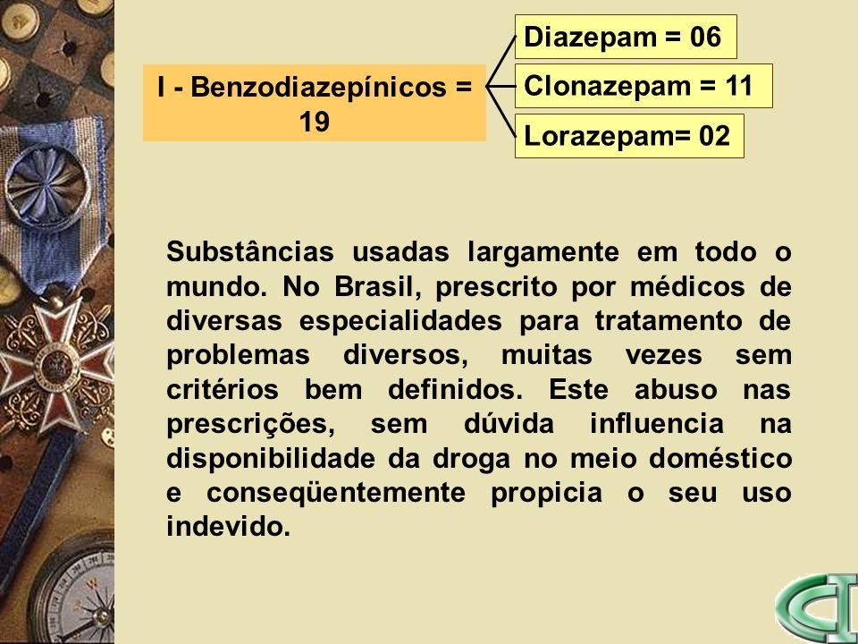 I - Benzodiazepínicos = 19