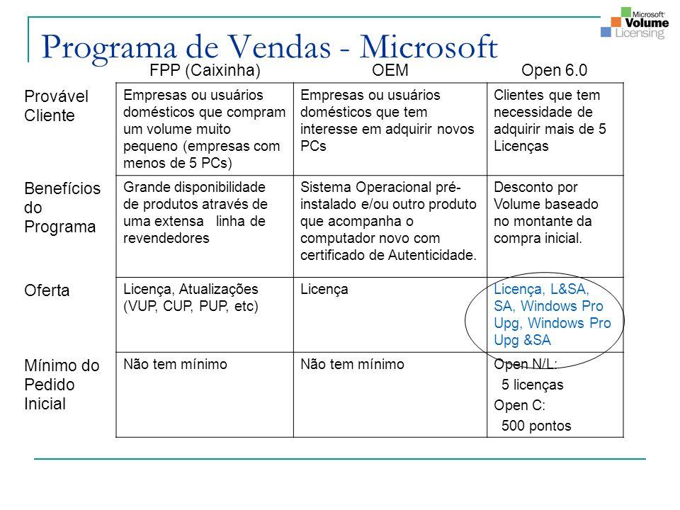 Programa de Vendas - Microsoft