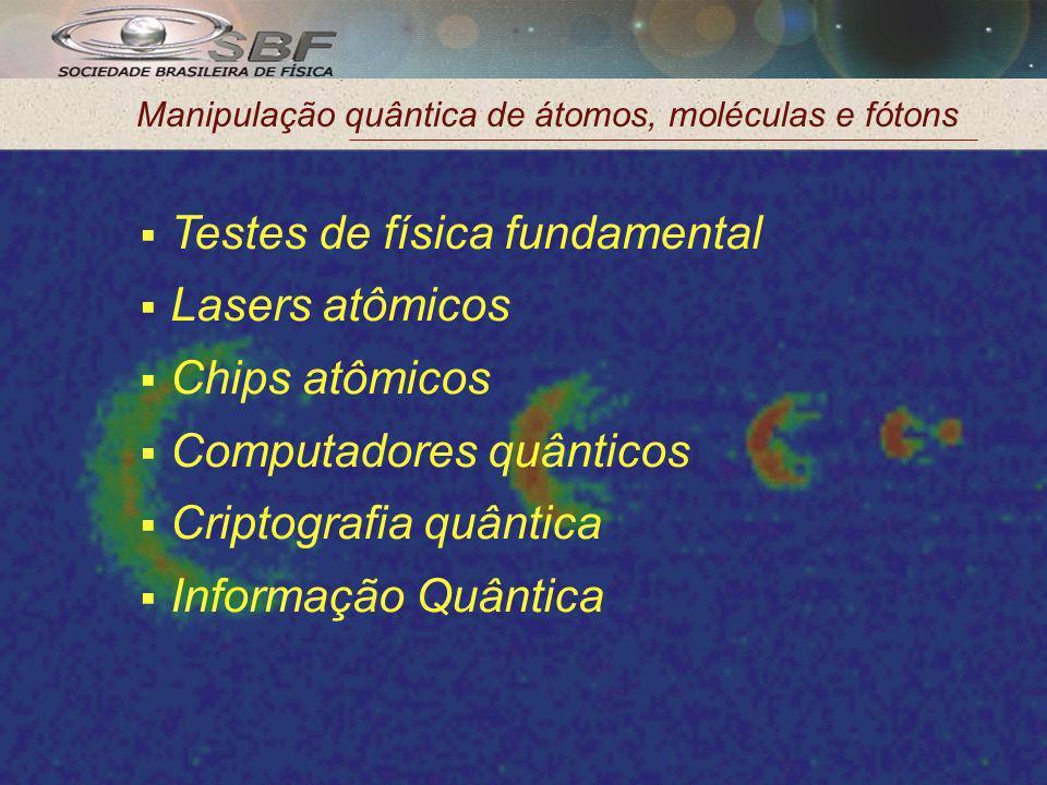 Manipulação quântica de átomos, moléculas e fótons