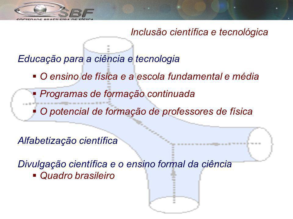 Inclusão científica e tecnológica