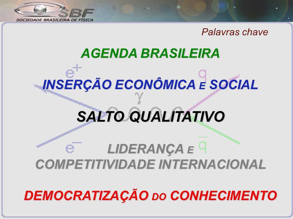SALTO QUALITATIVO AGENDA BRASILEIRA INSERÇÃO ECONÔMICA E SOCIAL