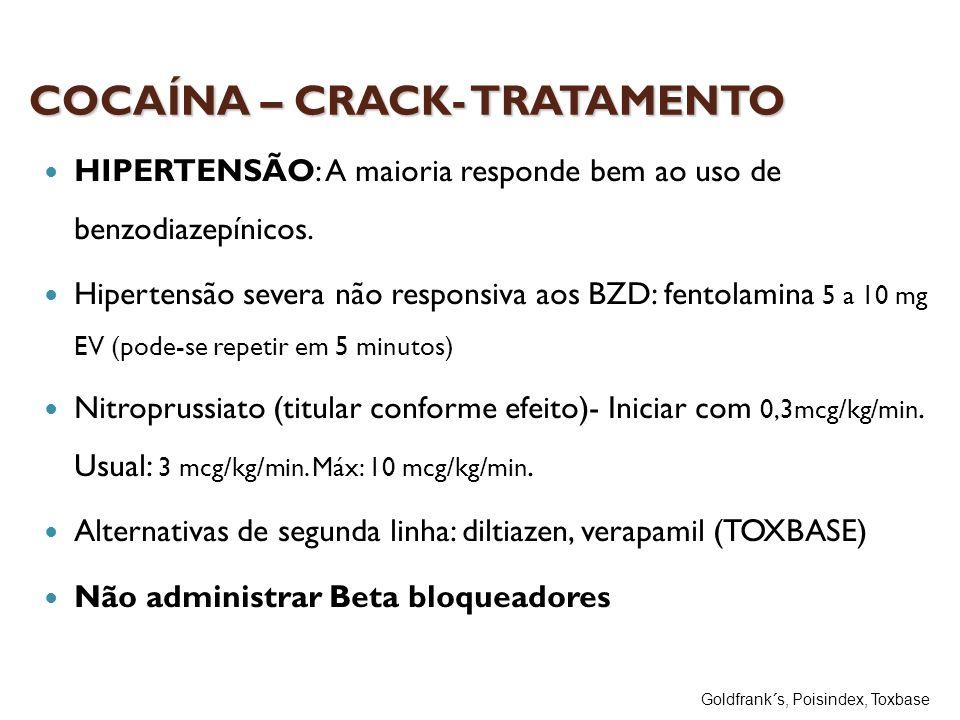 COCAÍNA – CRACK- TRATAMENTO