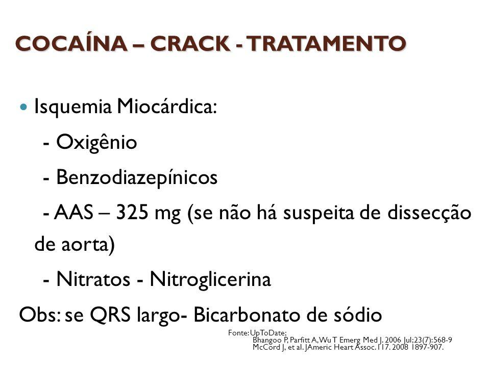 COCAÍNA – CRACK - TRATAMENTO
