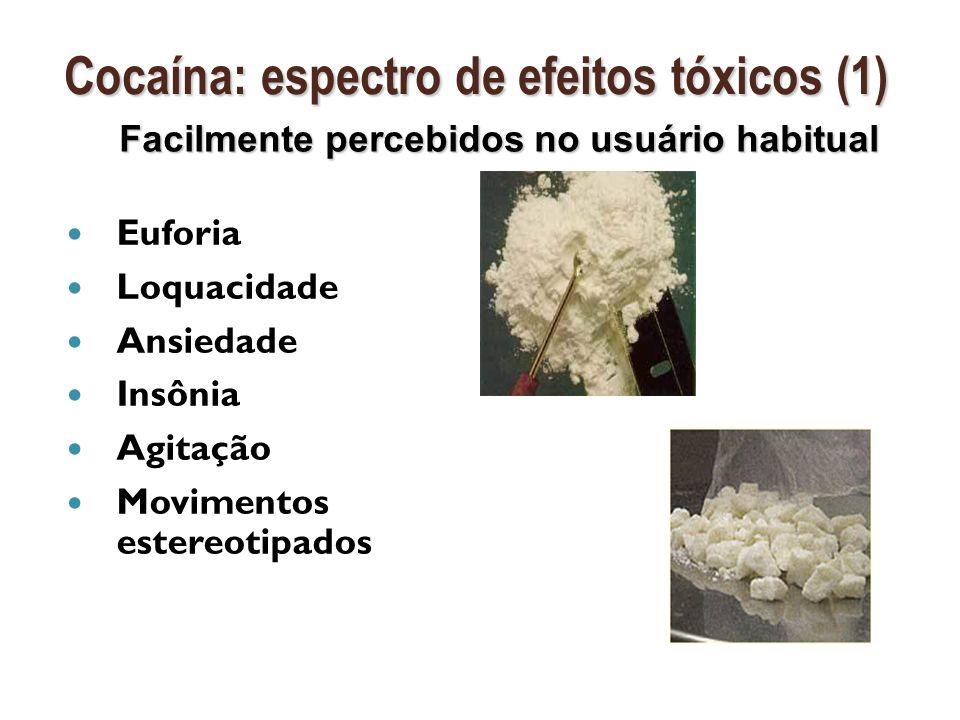Cocaína: espectro de efeitos tóxicos (1)