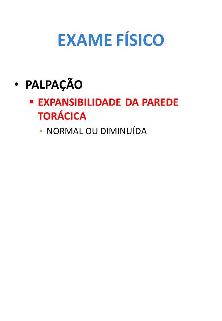 EXAME FÍSICO PALPAÇÃO EXPANSIBILIDADE DA PAREDE TORÁCICA