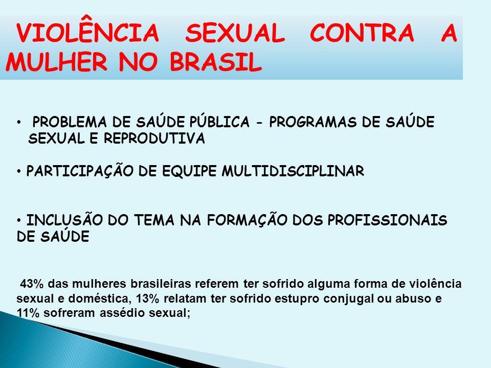 VIOLÊNCIA SEXUAL CONTRA A MULHER NO BRASIL