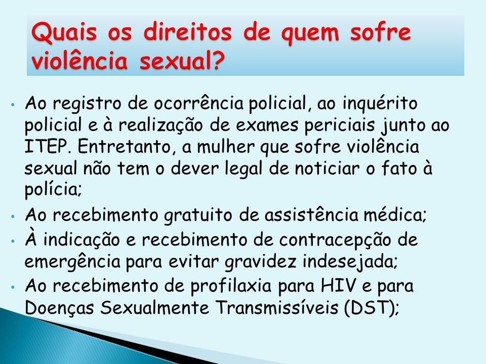 Quais os direitos de quem sofre violência sexual