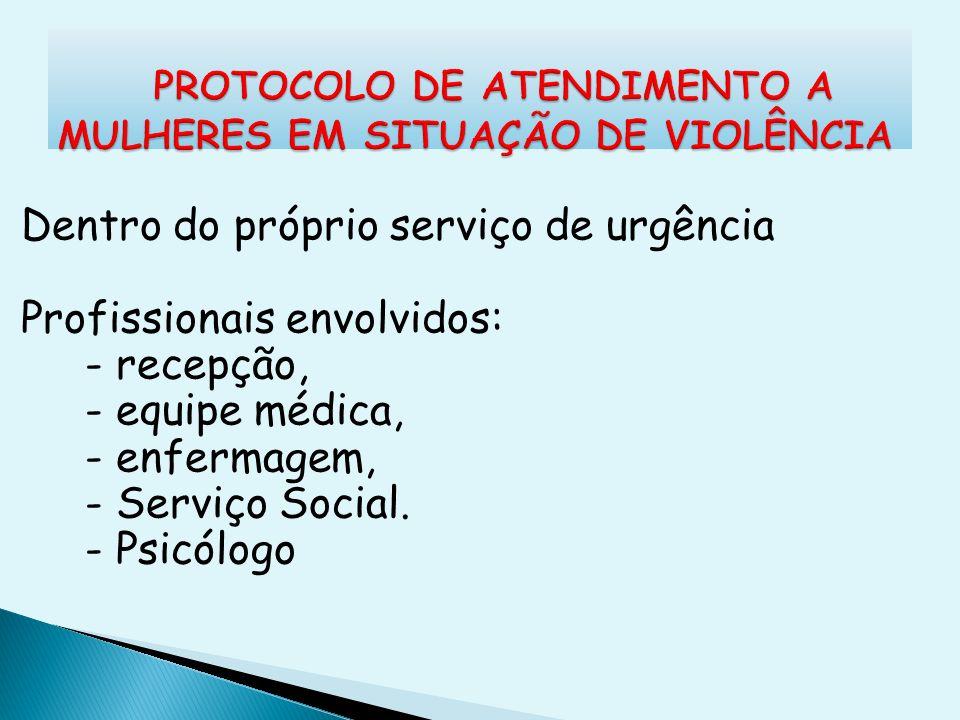 PROTOCOLO DE ATENDIMENTO A MULHERES EM SITUAÇÃO DE VIOLÊNCIA